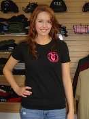 Black / Hot Pink Short Sleeve T-Shirt